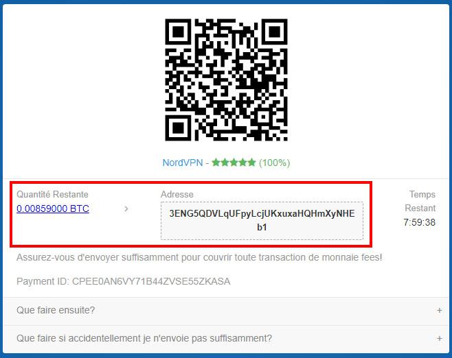 coinpayments attente des bitcoin et adresse d'envoie
