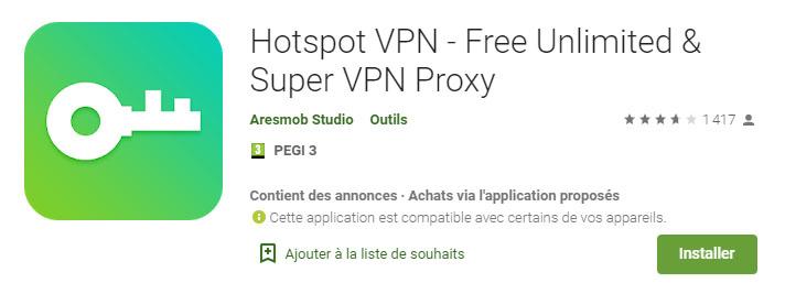 application android VPN gratuite