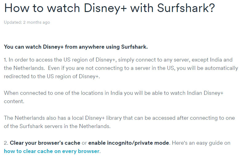 Surfshark débloque Disney+
