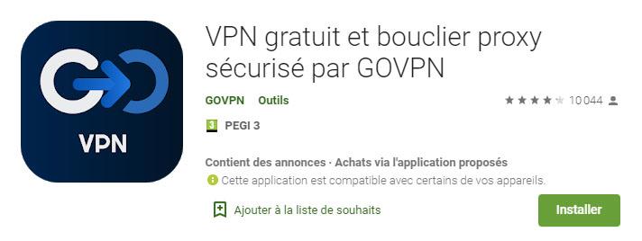 application vpn android GoVPN
