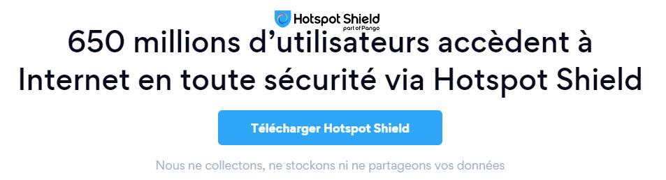 publicité du logiciel VPN hotspotshield