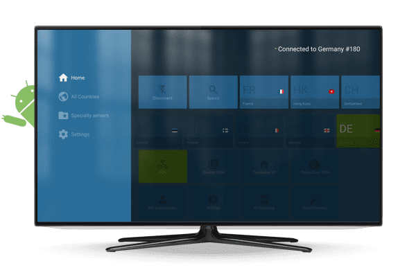 application NordVPN sur Android TV