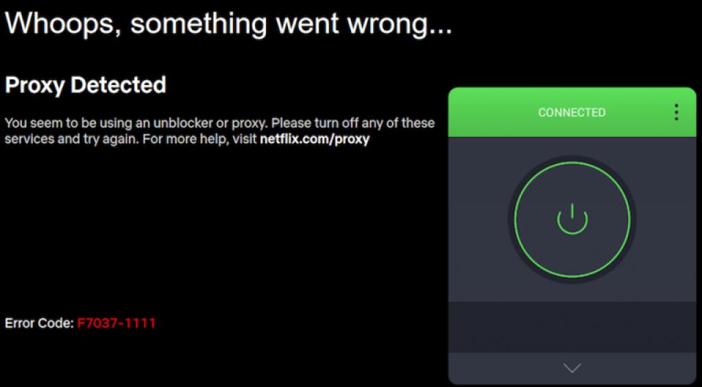 Test de Private Internet Access avec Netflix