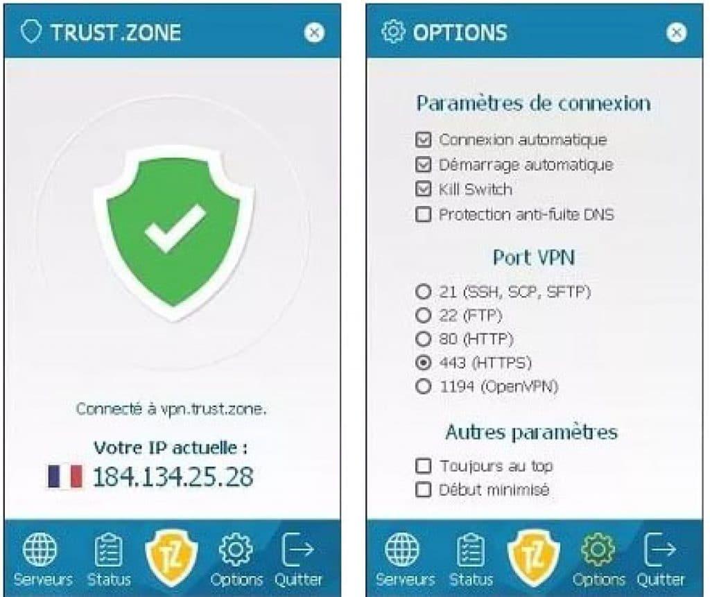 Avis Trust zone windows 10